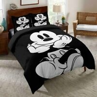 3D Mickey Black White Bedding Set Duvet Cover Queen Comforter Cover PillowCase