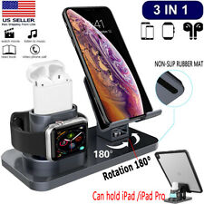 3 in 1 Charging Dock Station Holder Stand Fr Apple iWatch AirPods/iPhone 11/iPad