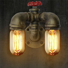 Vintage Industrial Retro Dual ater Pipe Shape all Lamp Sconce Light Fixture