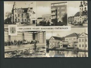 EISENBERG << 700Jahre...5 Ans. u.a. K.-Marx-Lichtspiele, Hallenbad....>> s/w AK