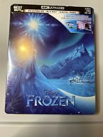 FROZEN (U.S EXCLUSIVE STEELBOOK / 4K Ultra HD +Blu-ray) New Sealed