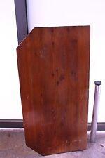 Wandtisch 120x60cm Tischplatte massiv Holz braun Anbautisch Schraub-Metallbein
