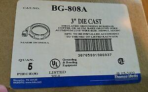 T&B BG808A 3 INCH GROUNDING BUSHINGS BOX OF 50. ↔Special ↔