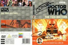 Doctor Who: THE TWO DOCTORS DVD Cover Signed by Colin Baker & Carmen Gomez