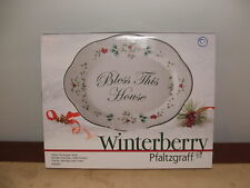 NEW IN BOX christmas Pfaltzgraff WINTERBERRY Bless This House Platterserve plate