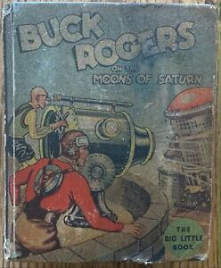 BUCK ROGERS ON THE MOONS OF SATURN BIG LITTLE BOOK (WHITMAN,1934) PLATINUM AGE ~