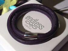 Endless Jewelry 40cm Purple Bracelet Double Strand Silver Clasp rrp £50
