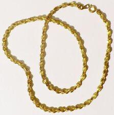 collier chaine bijou rétro vintage maille déco torsadé relief couleur or * 4522