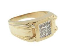 Dinner Ring 1/2 Carat Tdw Men's 14K Yellow Gold Diamond Fashion