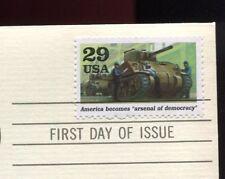World War II-Arsenal of Democracy-1st day issue-Golden Replica