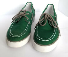 Polo by Ralph Lauren LANDER P Mens Green Canvas Boat Loafers Shoes UK 9 / EU 43