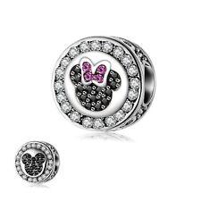 European Silver Enamel Mouse Charms Beads Xmas Pendant Fit 925 Sterling Bracelet