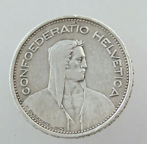 Switzerland Confederation 5 Francs 1933, Bern Silver 14,94gr. 30mm