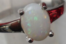 100% GENUINE Coober Pedy Opal Ring in Sterling Silver 0.72cts N - O Lovely ring.