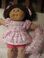 CPK  doll clothes for Vintage CPK 16 to 18 inch flannel pajamas/pillow