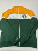 MITCHELL & NESS Green/White MLS Portland Timbers Track Jacket Sz 2XL