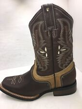 Women's Western Square Toe Cowgirl Boot Brown Bota De Dama Vaquera Sz 5-10