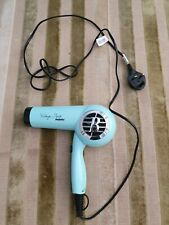 Babyliss folding lightweight VINTAGE TWIST blue hair dryer Ionic 1600W VGC