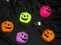 Halloween Sparkle Glitter Pumpkin Electric String Lights Indoor Outdoor