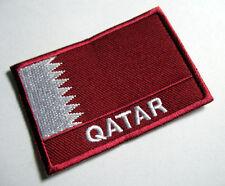 STATE OF QATAR QATARI NATIONAL FLAG Sew on Patch Free Postage