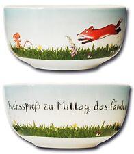 GRÜFFELO Schüssel, Müslischale, Schale, Fuchs Maus und Grüffelo, Scheffler NEU
