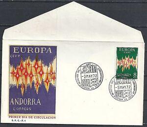 Spanish Andorra 1972 MI 71 unused United Europe FDC  VF