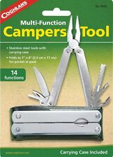 14 MULTI FUNCTION CAMPERS TOOL STAINLESS STEEL TOOLS, CARRY CASE,COGHLANS #9690