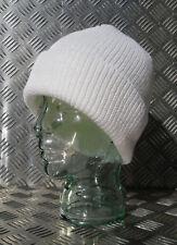 Blanc Bonnet tricot/BONNET/chapeau en laine - Taille Unique - Neuf