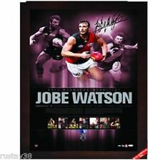ESSENDON JOBE WATSON 2012 BROWNLOW MEDALLIST SIGNED FRAMED LIMITED EDITION PRINT