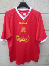 VINTAGE Maillot LIVERPOOL 2003 Coupe Europe REEBOK shirt jersey trikot 42/44 XL