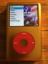 New 500gb Custom iPod Classic 7th Gen Gold/Gold 3000Mah Batt. 2.04-2.0.5