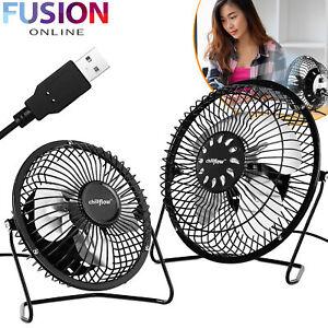 Portable USB Fan Mini Desk Table Air Cooling Desktop Personal Adjustable Cooler