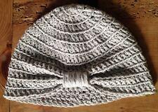 Gorro Bebe Beige Crochet Recién Nacido 0/3  Artesanal Nuevo Tipo Turbante