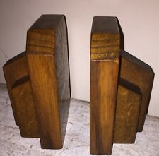Art Deco Odeon Style Wooden Book Ends  Bookends