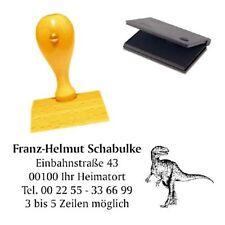 Adressenstempel « VELOCIRAPTOR » mit Kissen - Firmenstempel - Dinosaurier