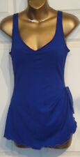 Vintage 70's Blue Roxanne Swim Suit Bathing Suit with Skirt 34B