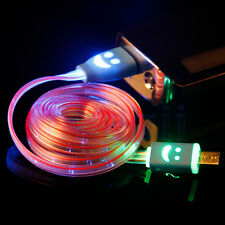 Light Up LED Micro USB Data Sync Charger Cable For HTC LG Samsung S3 S4 MA
