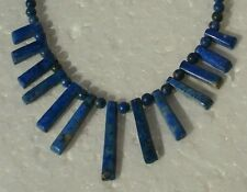 LUXUS Halscollier Lapislazuli Perlen Damenkette Halskette antique NECKLACE