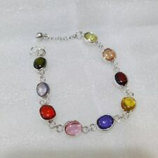 bracelet silver Naga Eye Nok Phra Gow powerful lucky gem Thai Amulet charm rare