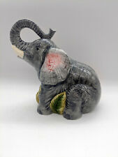 New Ceramic Gray Elephant Coin Bank Trunk Up Elephants By Popular Imports 723002