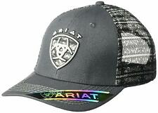 Ariat Mens Logo Grey Print Mesh Back Snapback Cap
