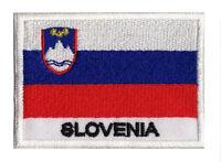 Ecusson Slovénie patch patche drapeau SLOVENIE 70 x 45 mm brodé à coudre