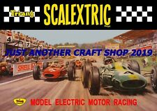 Scalextric 1960's Poster Very Large A2 Size Advert Shop Display Sign 59cm x 42cm