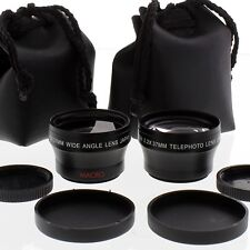 WIDE ANGLE + TELE LENS KIT 37mm for SONY HDR-HC1,SR11,SR12,HC7, HVR-A1, DCR-SX45