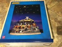 Lemax Holiday Village  -Bethlehem Nativity With Starry Lit Background