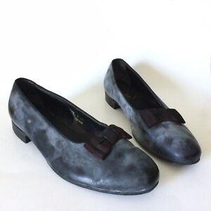 Brooks Brothers Brooks English Size 42 Black Leather Tuxedo Shoes Grosgrain Bow