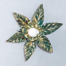 Deckenlampe Wandleuchte Hans Kögl florales  Design grün/ gold