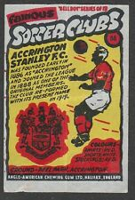 Anglo-American Gum Bell Boy wax wrapper Famous Soccer Clubs #88 Accrington S