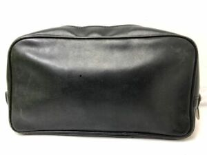 Authentic Gucci GG Monogram Clutch Handbag Purse Italy Vintage Rare Black