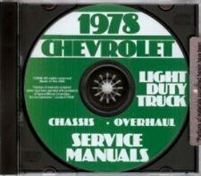 CHEVROLET 1978 Pickup, Van, Blazer, Suburban & Truck Shop Manual CD
